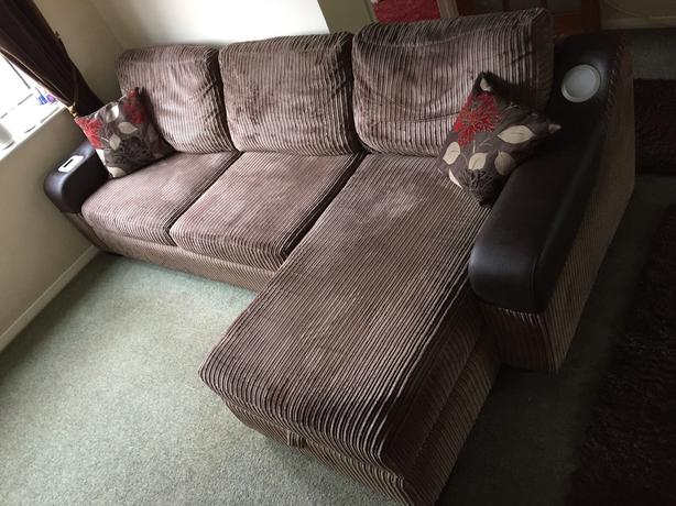 Dfs Brown Fabric Sofa Bed With Storage With Built In Ipod Dock Free Delivery Wednesbury Dudley