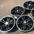 "Set of new 5 ex-display alloy wheels Black 16 "" 5x120 fitment ideal for a BMW"