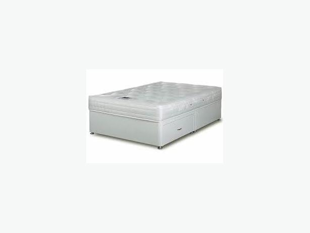 WHITE ORCHID DOUBLE ORTHOPAEDIC BED