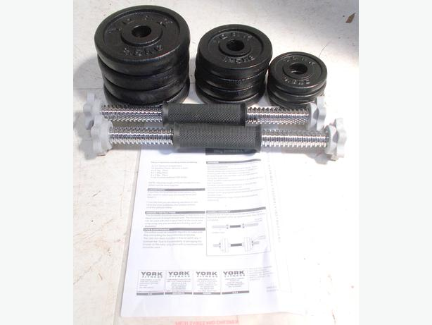 York Fitness 20KG Cast Iron Dumbell Set