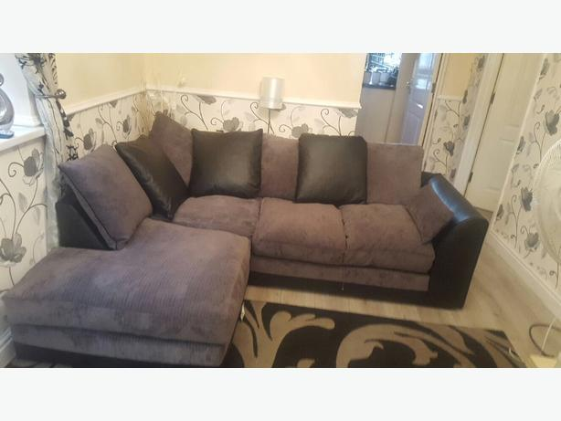 Corner Sofas Half Leather Half Fabric Coseley Dudley