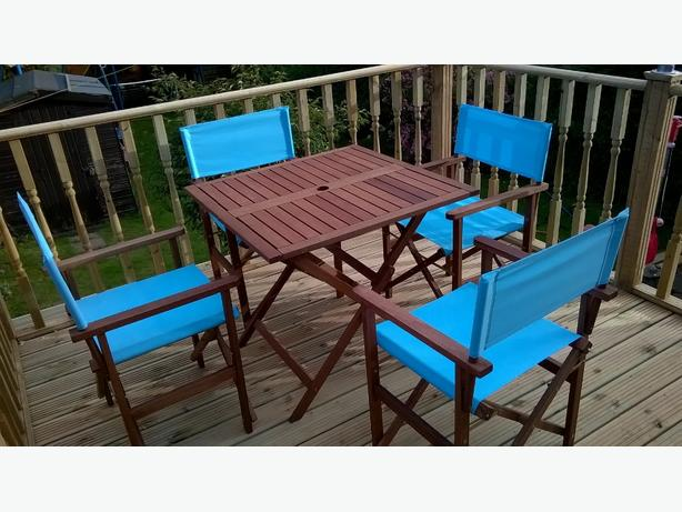 Patio Set Hardwood with directors chairs
