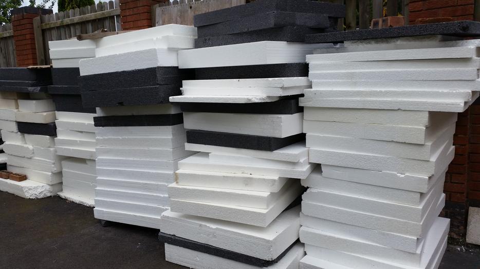 Polystyrene Insulation Approx 1m X 1m X 55 100 150mm