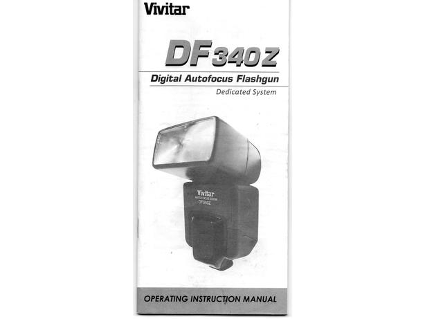 Vivitar DF340Z flashgun