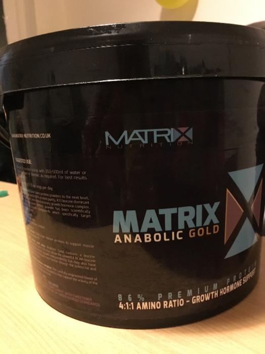 matrix anabolic gold protein
