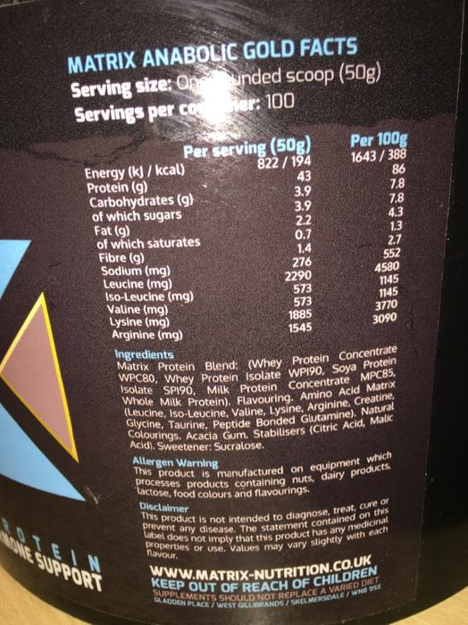 5kg matrix anabolic protein buy