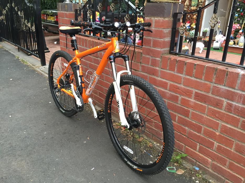 Voodoo Mountain Bike Orange Suspension Lightweight Smethwick Dudley