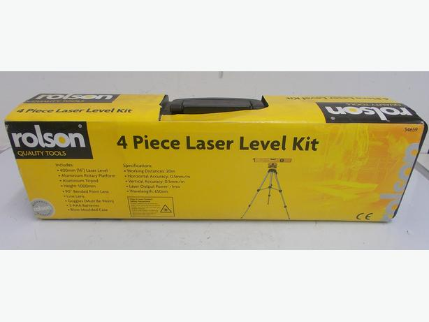 Rolson 4 Piece Laser Level Kit