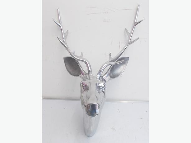 Aluminium Stag Head HZW6856 Wall Mounted RRP £125