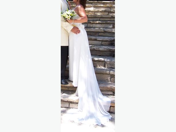 Stunning ivory wedding dress petite size 10 12 brierley for Wedding dress for 5ft bride