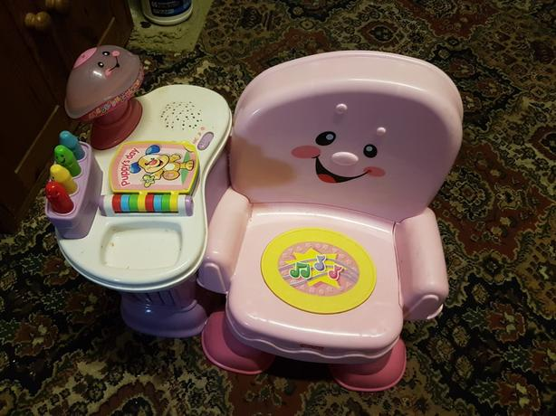 Fisher price learn and play pink chair
