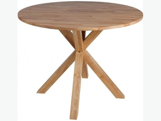 Montego solid oak veneer round dining table dudley dudley - Oak veneer dining table ...