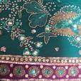sea green saree