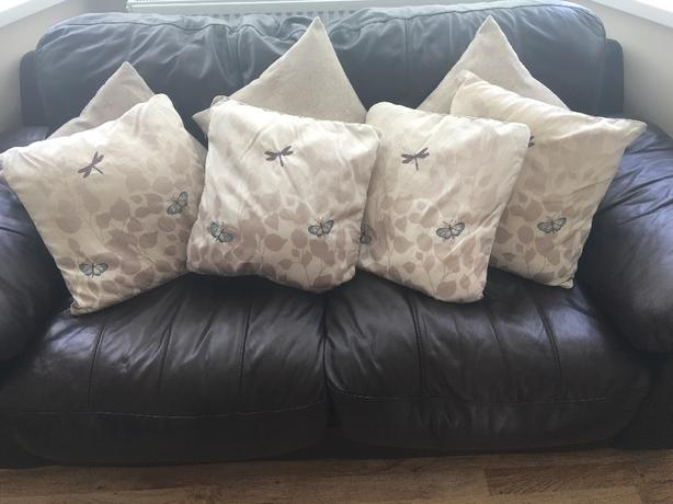 9 cushions from Dunelm