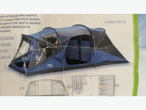 6 birth parrot blue tent