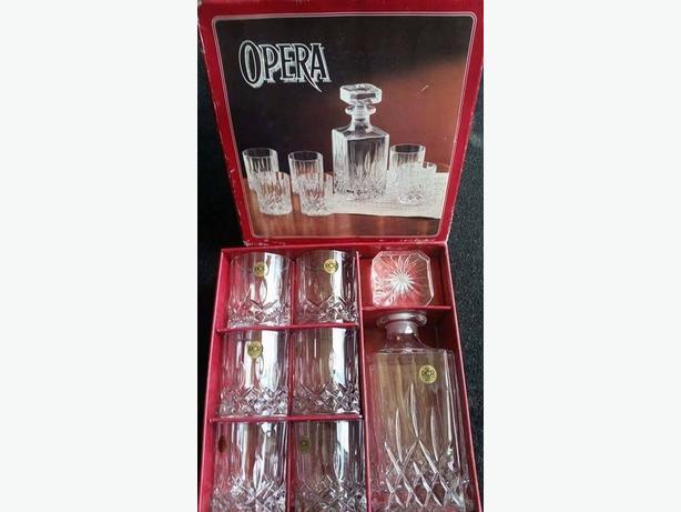 7pc crystal whiskey set
