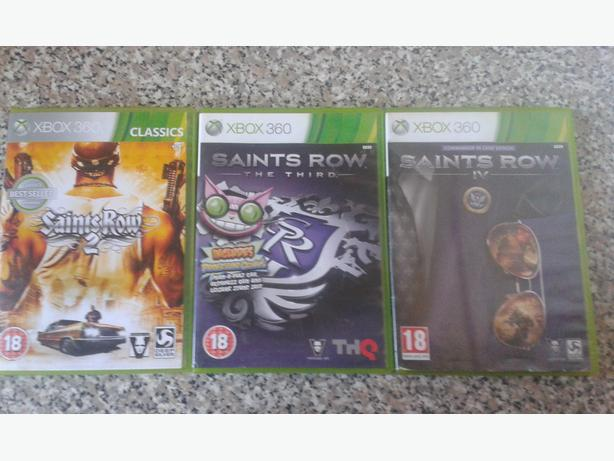 Saints row 2, 3 &4 xbox 360
