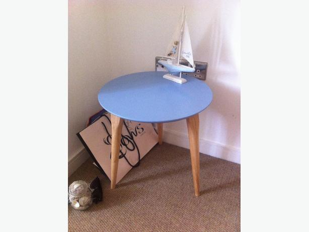 Side Table and Canvas