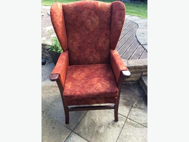 High wing back chair for elderly