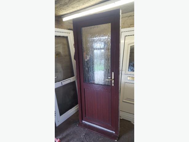 upvc door brown