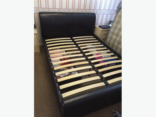 Dark brown king size bed