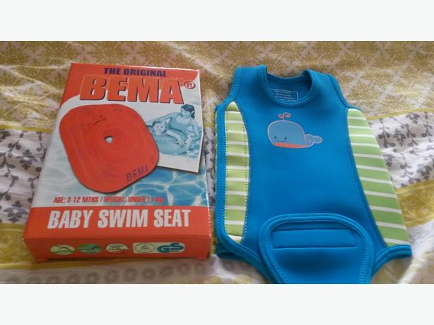 brand new baby swim seat and wet suit