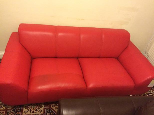 Aspect 2 seater leather sofa