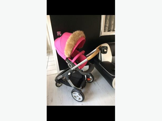 stokke crusi system can change pink to beige