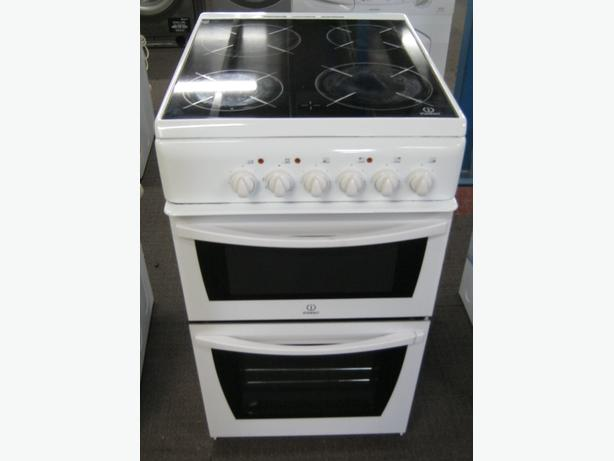 Indesit 50cm Electric Cooker, Fan Oven, Ceramic Hob, 6 Month Warranty