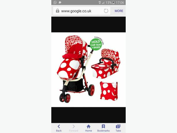 cossatto bubble pram/buggy.