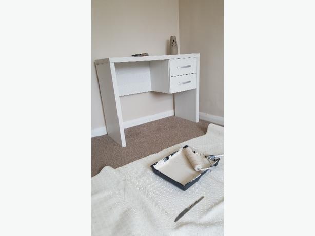 grey wood desk
