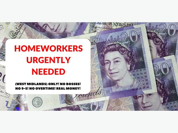 FREE: HOMEWORKERS URGENTLY NEEDED