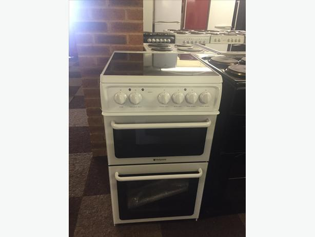 BRAND NEW GRADED HOTPOINT ELECTRIC COOKER 50 CM WIDE WITH GUARANTEE
