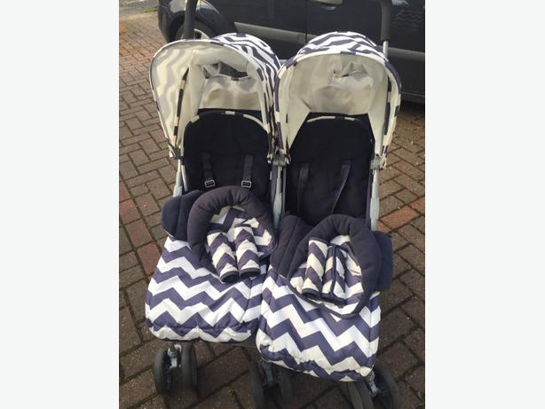obaby leto twin plus stroller