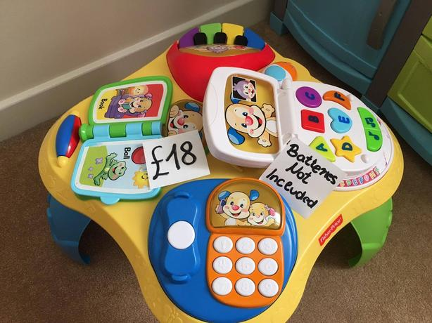 Laugh Learn Puppy Friends Table Learning Fisher Price