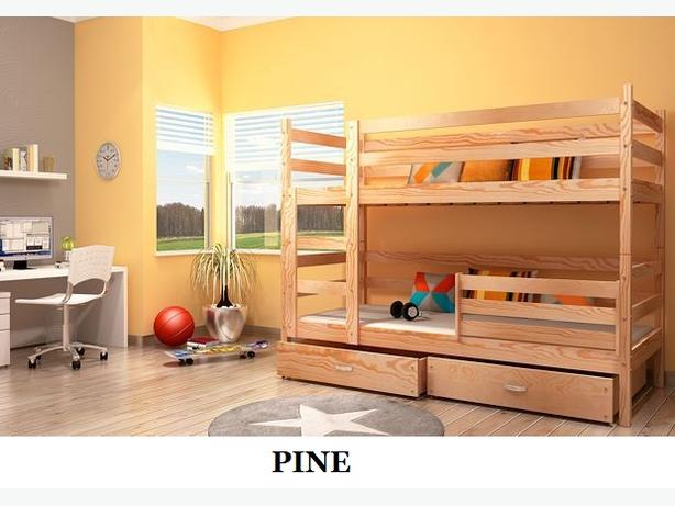 """Children's Bunk Bed """"JACK"""" with Mattress and Storage Drawers"""