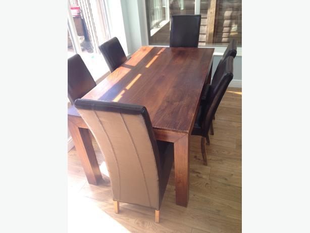 Mango Wood 6 Person Dining Set Next Dakota Style