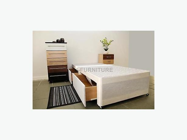 SINGLE BED BASE + 2 DRAWS