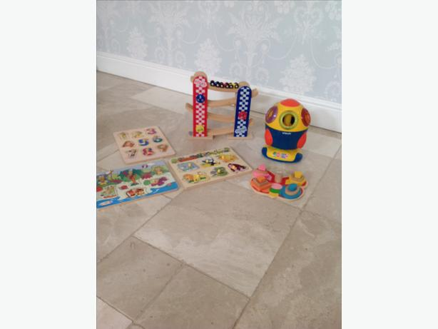 Selection of toddler toys.