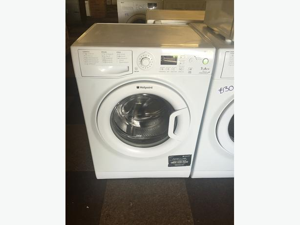 A rated HOTPOINT 7 Kg 1100 SPIN WASHING MACHINE WITH GUARANTEE