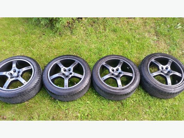 subaru impreza MOMO 17 inch wheels fit 93-06