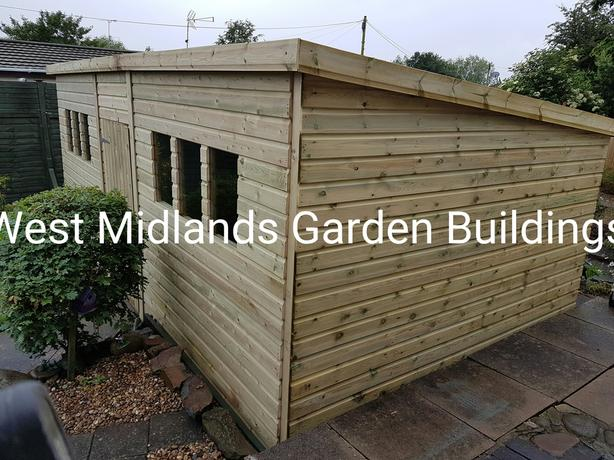 Bespoke heavy duty garden buildings pressure treated tanalised