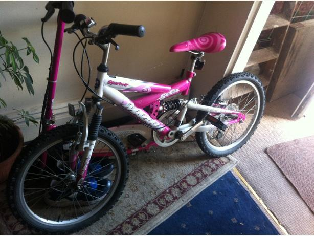 girls bike mint with susupension