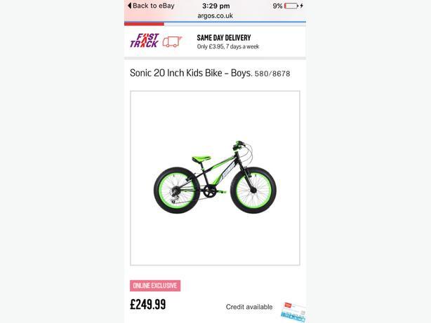 sonic boom fat tyre bike