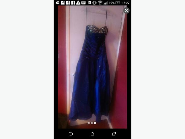 Blue prom dress, size 8.