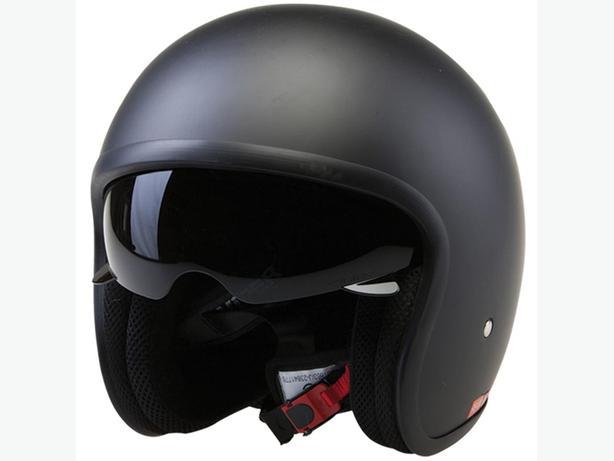 Viper RS-V06 Matt Black open face helmet. Large 59-60 with drop down visor..