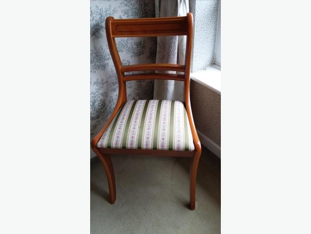 Yew Dining Chairs Four Great Barr Dudley