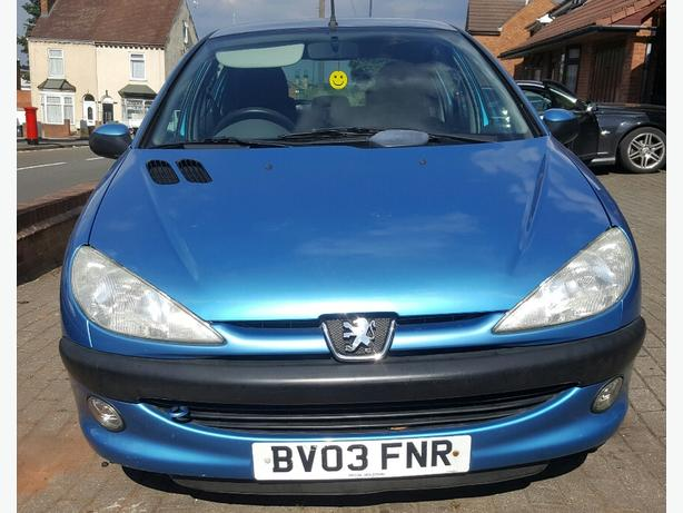Peugot 206 1.1  5dr 82k blue good condition