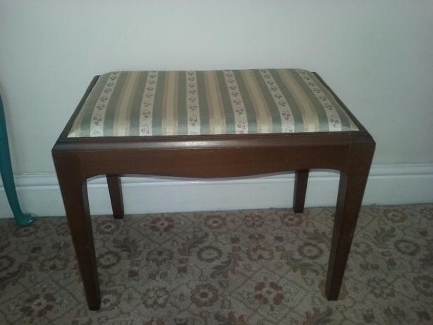Stag dressing table stool