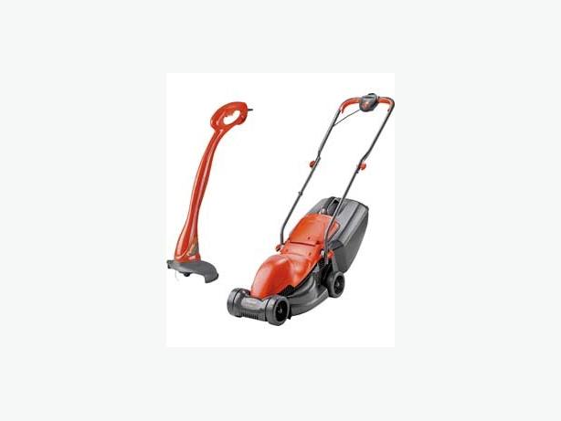 flymo easimo mini lawnmower and trimmer